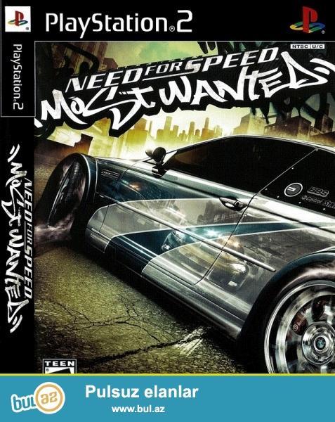 NFS MostWanted <br /> Ps2 oyun diski