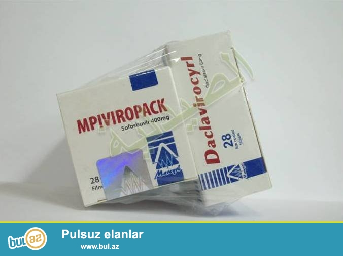 Hepatit C-nin 3 ayliq mualicesi ucun derman.3 aya 100% virusu yox edir...