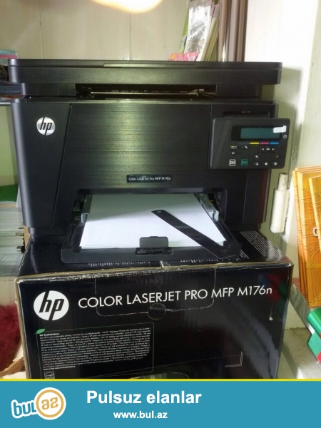 tam yeni rengli printer satilir <br /> HP LaserJet Colour PRO MFP M176n
