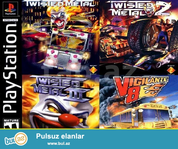 4 in 1 Playstation 1 oyun diski <br />
