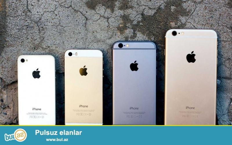 iPhone ayfonlar ucuz qiymetle 4 5 6. Orginal ve dubay variantlari var