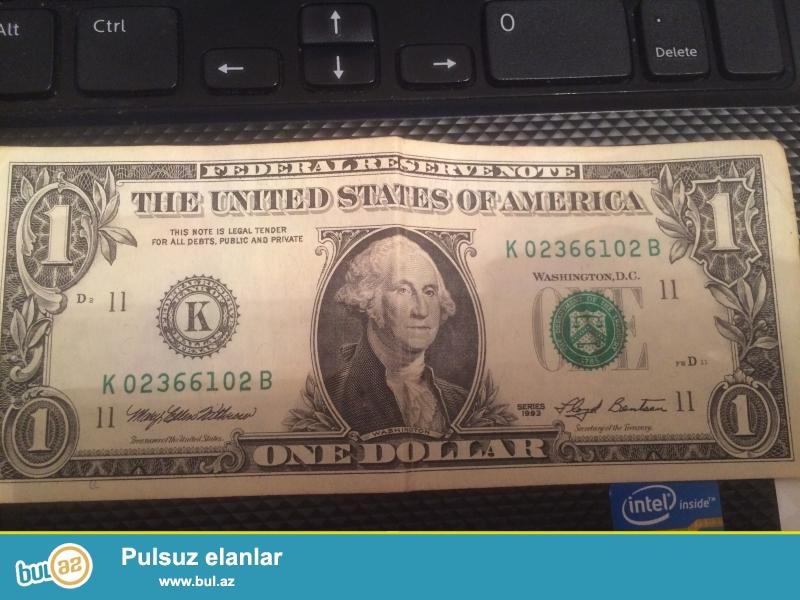 1 eded 1993cu il , 1 eded 1995ci il , 1 eded 1999cu il, 1 dollar satilir