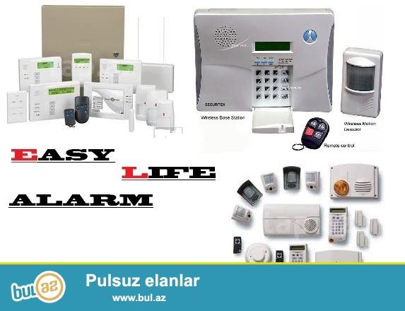SIQNALIZASIYA-ALARM sistemleri; EASY LIFE sirketi sizing tehlukesizlik ve guvenliyiniz ucun siqnalizasiya sistemlerini teklif edir...