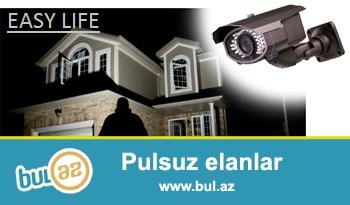 EASY LIFE sirketi Azerbaycan uzre en yeni orjinal muxtelif olculu tehlukesizlik  kameralarinin satisi ve qurasdirilmasini teklif edir...