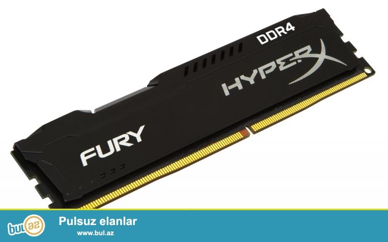 Kingston HyperX FURY 2666MHz DDR4 8GB RAM satilir 100 azn<br /> <br /> yenidir qutusunda ...