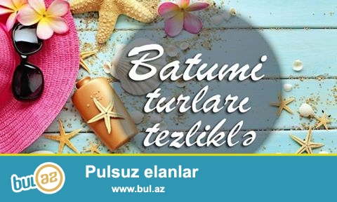 ● Batumi Turları tezliklə !!!<br /> ● Sərfəli qiymət - yüksək xidmət - bəyənəcəyiniz keyfiyyət yalnız bizdə<br /> ● İyul ayı üçün Batumi - Tiflis - Trabzon (Uzungöl) Turu yaxın zamanda sizlərə təqdim olunacaq<br /> ☛ Əlavə Məlumat Üçün:✆<br /> AFN Travel<br /> 33 J...