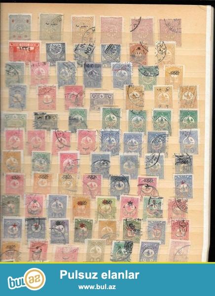 Osmanlı dövrünə aid markalar satılır hər biri 3 manat və ya xarici ölkələrin banknotları ilə dəyişdirilir.