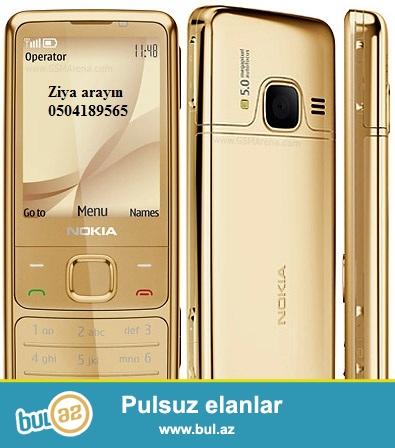 Nokia 6700 qızılı rəngli mobil telefon Finlandiya istehsalı