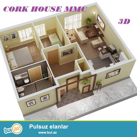 3D interyer dizayn çox münasib qiymətə, 1 kv/metri cəmi 10 manata Cork House MMC firmasinda peşəkar dizayner tərəfindən həyata keçiriləcək...