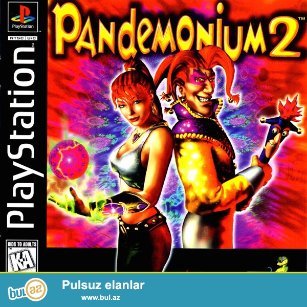 Ps1 oyun diski 2-oyun 1-diskde <br /> Pandemonium <br /> Pandemonium 2<br />