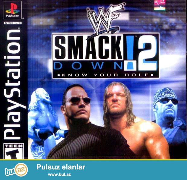 Ps1 oyun diski 2-oyun 1-diskde <br /> Smack Down <br /> Smack Down 2