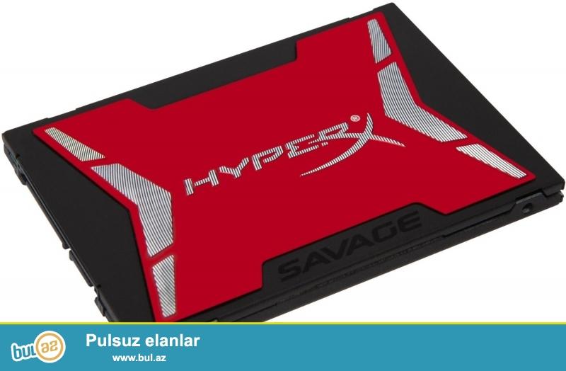 Kingston HyperX Savage 120GB SSD Satilir.... yenidir iwlenmeyib qutusunda Cox suretli ssd dir ...
