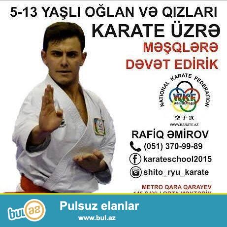Qara Qarayev metrosuna yaxın,145 № məktəbdə II,IV,VI günləri saat 18-20 kimi...