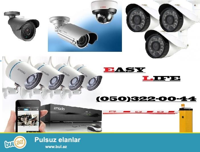 EASY LIFE sirketi Azerbaycan uzre en yeni orjinal muxtelif olculu tehlukesizlik kameralarinin satisini ve qurasdirilmasini teklif edir...