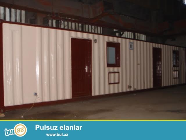 <br /> Konteyner modulu. 2.5x12 - 2 otag ve duş + tualet kabinasi...