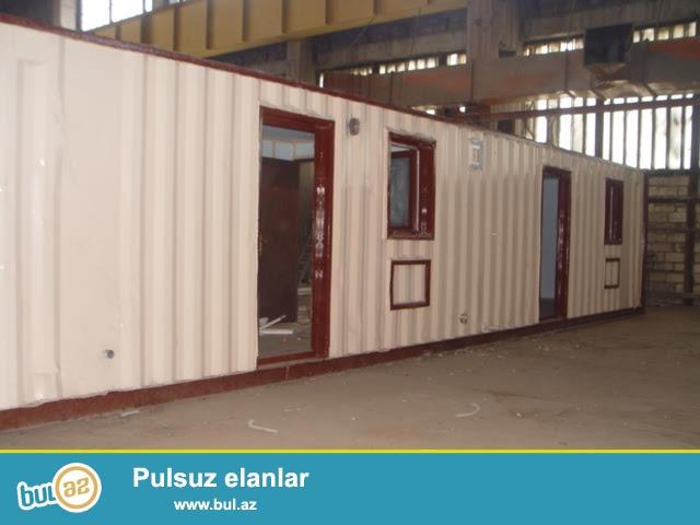 Konteyner modulu. 2.5x12 - 2 otag ve duş + tualet kabinasi...