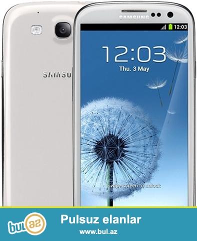 Samsung Galaxy S 3 Teze veziyyetdedir az islenib.Qiz isledib telefonu prablemi yoxdur...