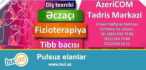 AzeriCOM Tədris Mərkəzi sizə Tibb kurslarını təqdim edir...