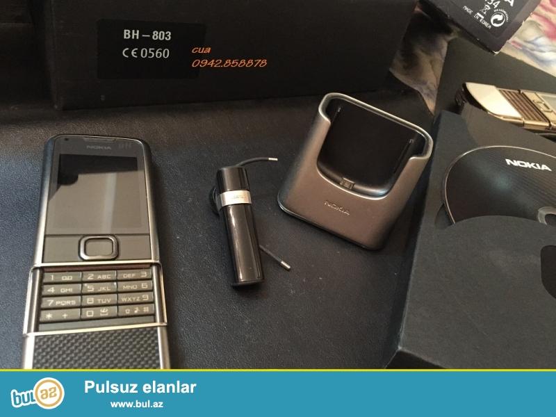 Nokia 8800 arte yeni satilir, her rengde, telefonlar tam yeni veziyyetde pakofkadadir...