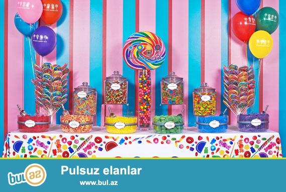 Candy Bar, Bannerlər, Maketlər, Helium shar, Məkanların dekoru, Hərflərin kirayəsi, Köpük Show, Ekzotik Show, Face ART, Atəşfəşanlıq<br /> Əlaqə: 055/0709915591<br />