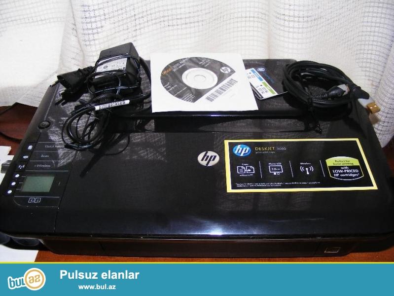 Hp Deskjet 3050 rengli printer,scaner,copier,wi-fi 3in1  az islenib,hec bir problemi yoxdur teze kimidi ancaq katricleri yenilenmelidi...
