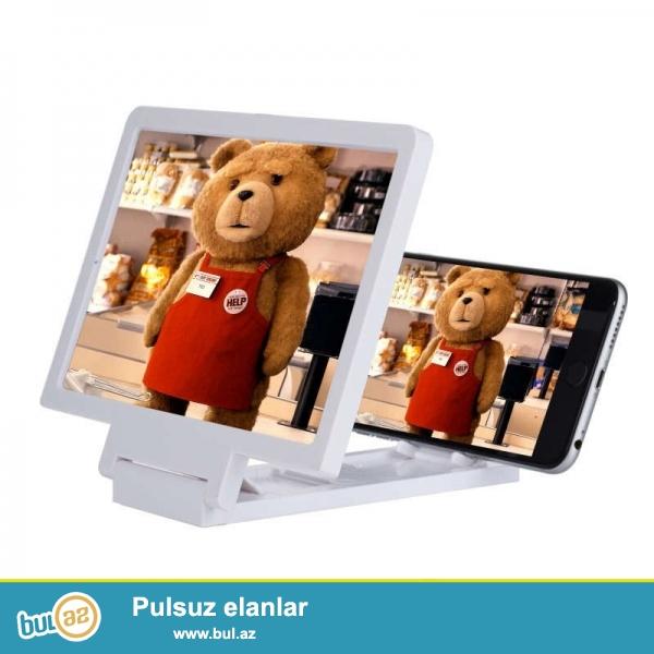 3D bouducu Screen.Telefonda videolari 3D formatda ve daha boyuk izlemek ucundur...