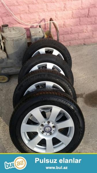 2005-2012 S klass üçün orijinal 17 düymlük 4 ədəd disk Michelin təkəri ilə birlikdə satılır...