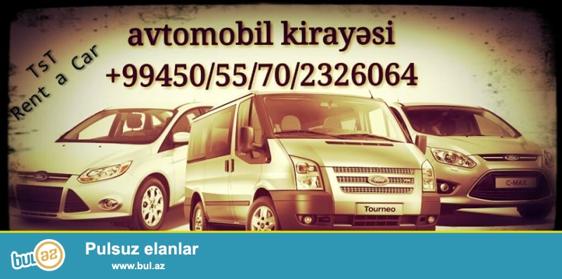 Tel: (99412) 409-09-09 <br /> Mob: (99450) 232-60-64<br /> Mob: (99455) 232-60-64<br /> Mob: (99470)232-60-64<br /> Biz Vip rent avto service olaraq avtomobil icaresini en serfeli shertlerle teklif edirik, hem ferdi hem hemde korporativ musteriler ucun...