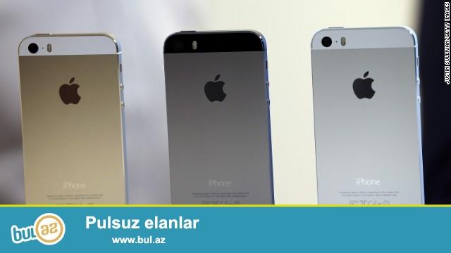 Iphone 5s yeni pakofkada satilir, 1:1 kopya orginaldan ferqlenmir...