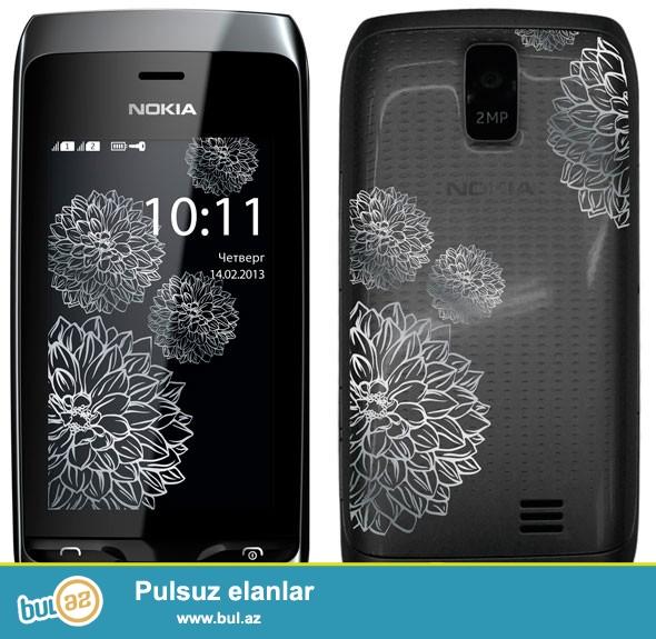 TECILIII..Nokia asha 308 satilir,tezedir,sinigizadi yoxdu,alinnandan bura ekranindaki plyonkasi cixmiyib hele...