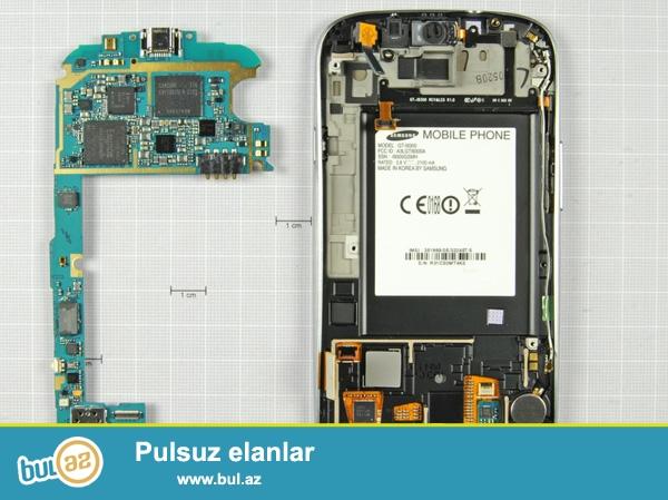 Telefonun ekrani yoxdu (yanib),plata, batareyka, qalan hisseleri yerindedi