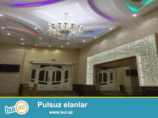 Yasamal rayonu,mətbuat prospektində,35 sotda-iki zalı olan şadlıq sarayı,iki restoranı,7 maqazini və s...