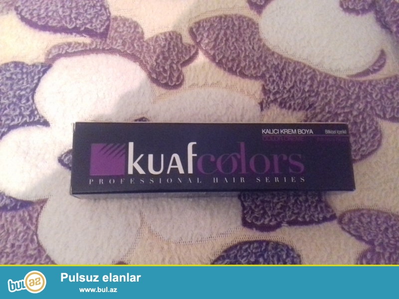 satılır saç boyaları-Kuaf Colors. təbii, türkiyədən gətirilmə, şəkilə diqqət<br /> qıyməti-10azn...
