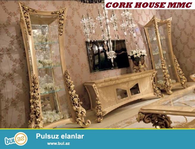 Muxtelif dizaynli keyfiyyetli materiallardan tv stendleri Cork House MMC firmasinda sifarisle hazirladin...