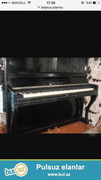 qara reng iki pedalli belarus pianino yaxsi veziyetde...