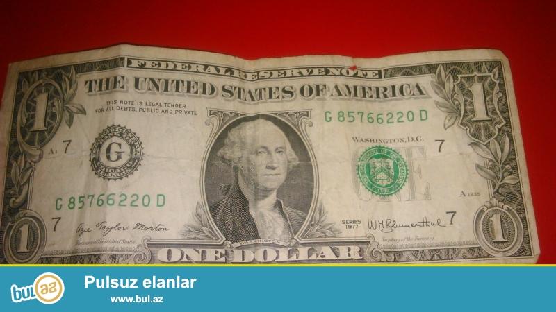 Salam. 1977-ci.ilin 1 dollari satilir. Alverci deyilem sadece tecili satilir .