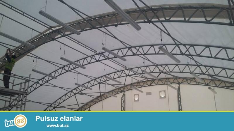 Toylar və hər növ mərasimlər üçün Tent binalarının kirayəsi<br /> Hər bir ölçüdə var...