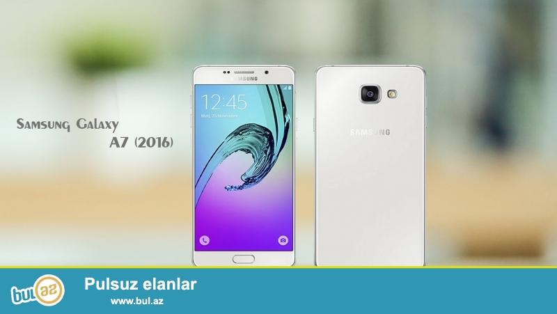 Samsung A7 2016 32GB AĞ Duos<br /> Təzə bağlı qabda <br /> Model SM-A7108 İnternetdə bax <br /> 32GB variant <br /> içində Play Store yoxdur...
