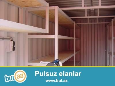 İstənilən ölçü və dizaynda hər növ konteynlərin tam sertifikatlaşdırılmış şəkildə  istehsal və satışını həyata  keçiririk...