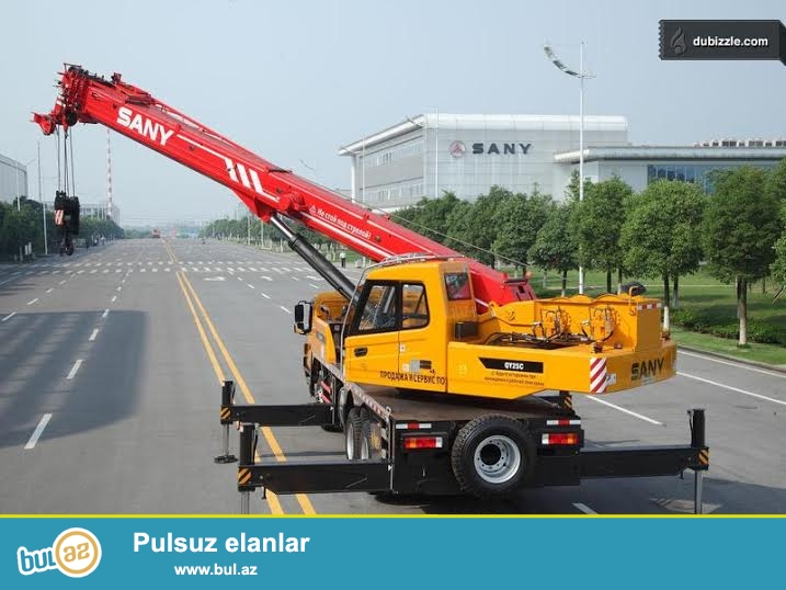 Sany kran kiraye verilir operator ilə. 25 ton 43 mtr...