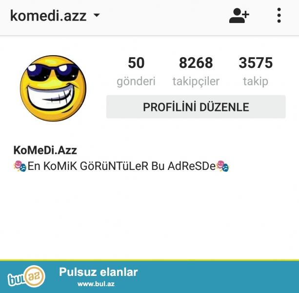Instagram seyfesi satilir 15azn <br /> 8k+ izleyici aktivlik normaldi <br /> Whatsap
