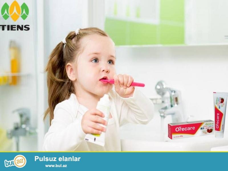 Uşaqlar üçün hazırlanmış xüsusi diş məcunudur...