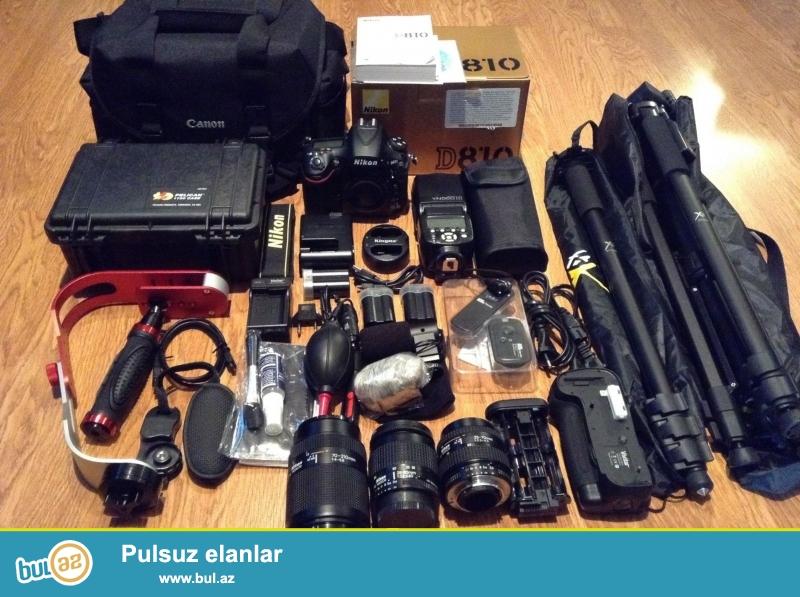 Nikon D810 36.3 MP Digital SLR Camera.<br /> .<br /> istifadəçi kitabçası:<br /> <br /> Brand Nikon<br /> Model D810<br /> Əsas Xüsusiyyətlər<br /> Camera növü Digital SLR<br /> Kamera qətnamə 36...