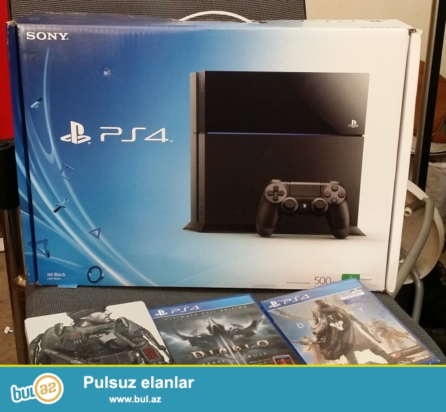 Sony Playstation 4 Console PS4 500Gb Black.<br />