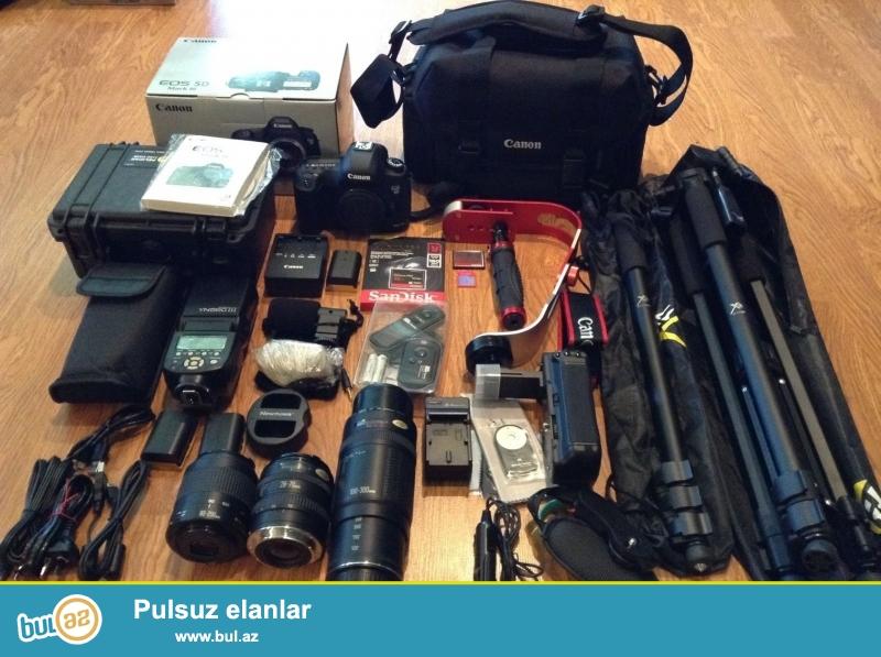 Canon EOS 5D Mark III 22.3 MP Digital SLR Camera.<br /> <br /> istifadəçi kitabçası:<br /> <br /> Brand Canon<br /> Model 5D Mark III<br /> Əsas Xüsusiyyətlər<br /> Camera növü Digital SLR<br /> Kamera qətnamə 22...