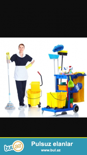 Evlərdə temizlik isleri goruruk gundelikde gelib ev temizliye bilerik ayda bir defe de gəlib temizlik isleri gore bilerik...