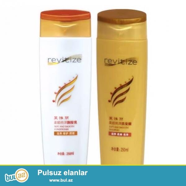 Revitize şampun və balzam seriyası- Zəif saçları kökündən müalicə edir, saç tökülməsinin, qırılmasının qarşısını alır...