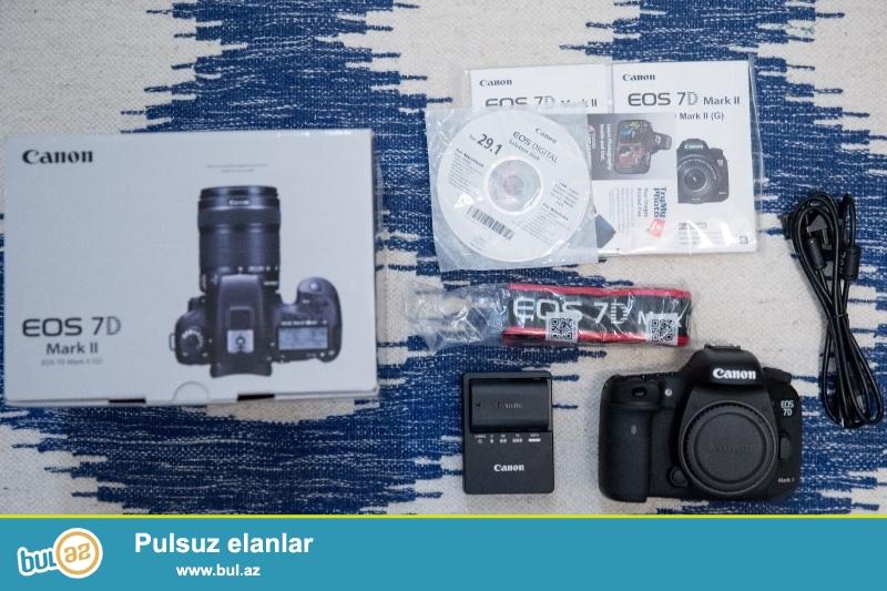 Canon EOS 7D Mark II Digital SLR Camera.<br /> <br /> 2 Units Pulsuz üçün 1 almaq Almaq<br /> <br /> Orijinal və 100% orijinal və 12 ay və hesablanması bir zəmanəti ilə möhürlənmiş qutusuna aksesuarlar tam dəsti ilə gəlir...