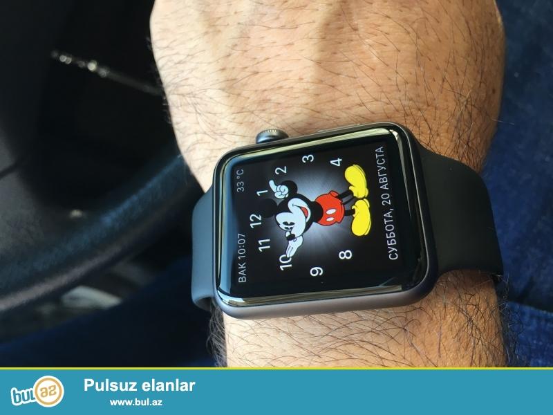 Black 42 mm sport Apple Watch Teze kimidi Çox az istifade olunub