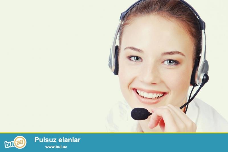 Nar Mobile sirketine operator xanim teleb olunur<br /> 20-30 yas arasi <br /> Azerbaycan dilinde selis danisiq<br /> Musteri ile unsiyyet qurmaq qabiliyyeti<br /> Kollektivle isleme bacarigi<br /> Telefon vasitesi ile nomrelerin satisini tewkil etmek<br /> Satisa uygun muvafiq bonus odenilir<br /> Is vaxti 10-00 dan 19-00 dek <br />